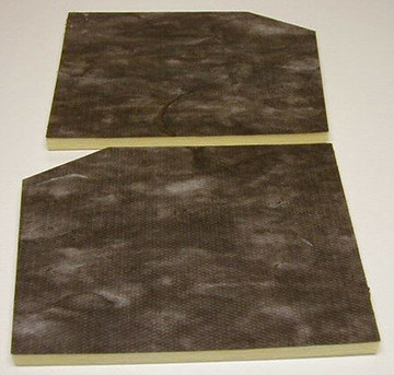 1955-1956  FORD HOOD INSULATION KIT, 2 PIECES