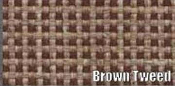 1946-48 BUICK ROADMASTER 4 DOOR SEDAN,TRUNK MAT KIT, BROWN TWEED, 9 PC.