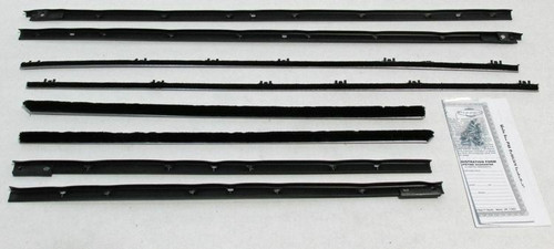 1980-1986 PONTIAC GRAND PRIX WINDOW WEATHERSTRIP KIT 4 PIECES