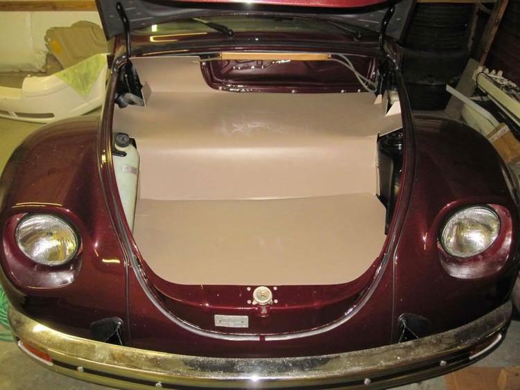 Super Beetle Convertible 1973-1979 VW Convertible Top Pad Kit