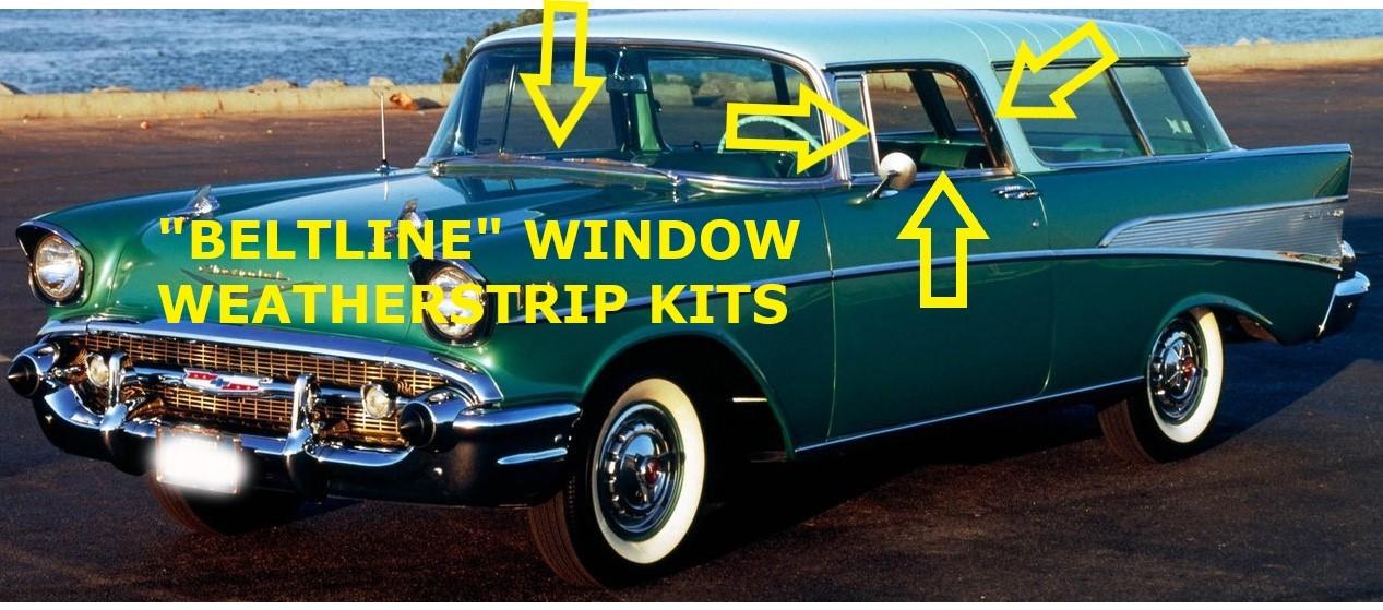 1950-1953 Buick /& Cadillac Rear Quarter Vent Window Weatherstrip Seals
