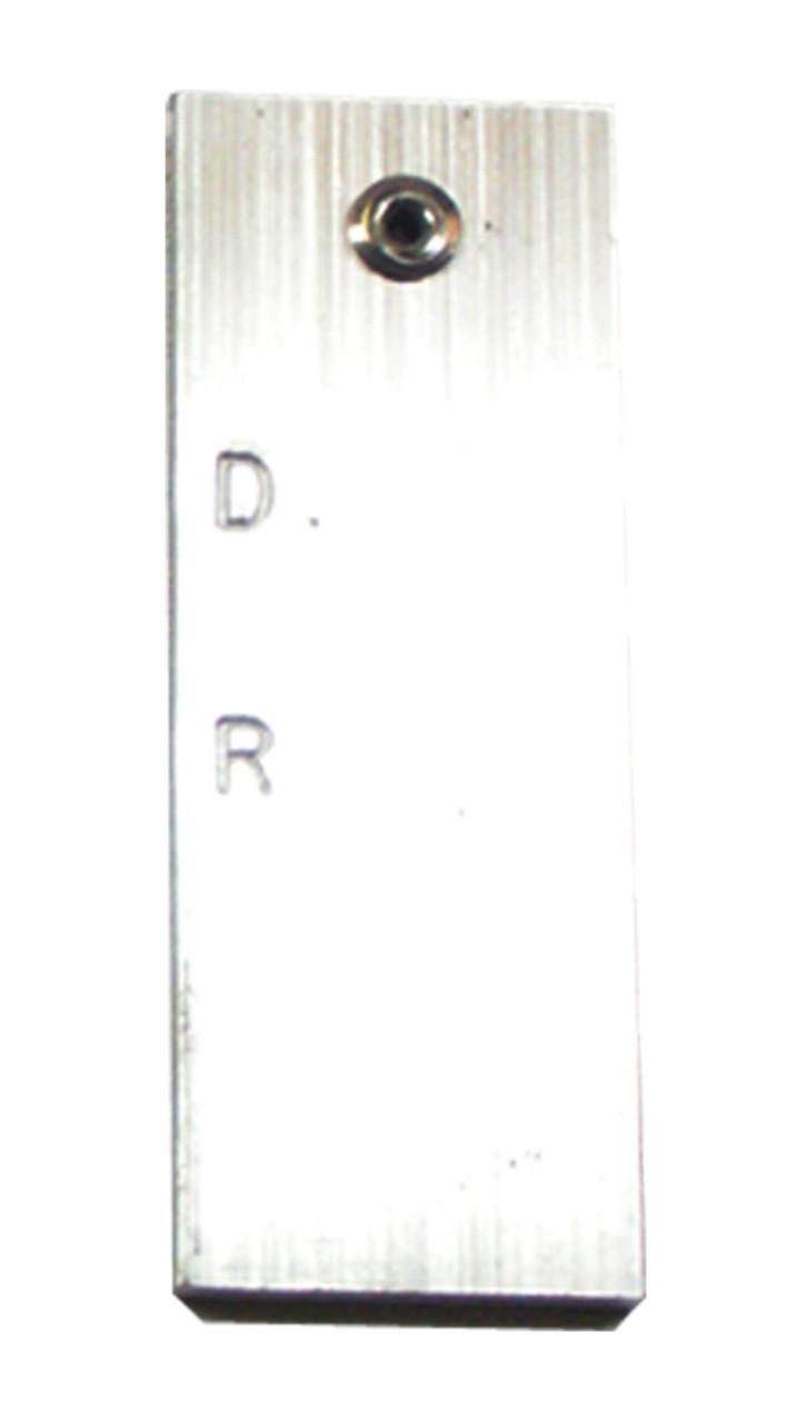 """G00234 - Bit Gauge Aluminum Bar 1/8"""" x 1 x 2-3/4"""""""