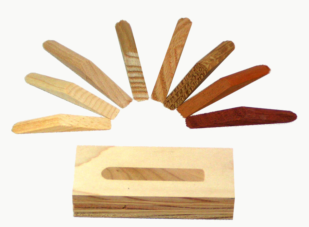B41058 - Walnut Wood Plugs For Pocket Holes, 25 pieces