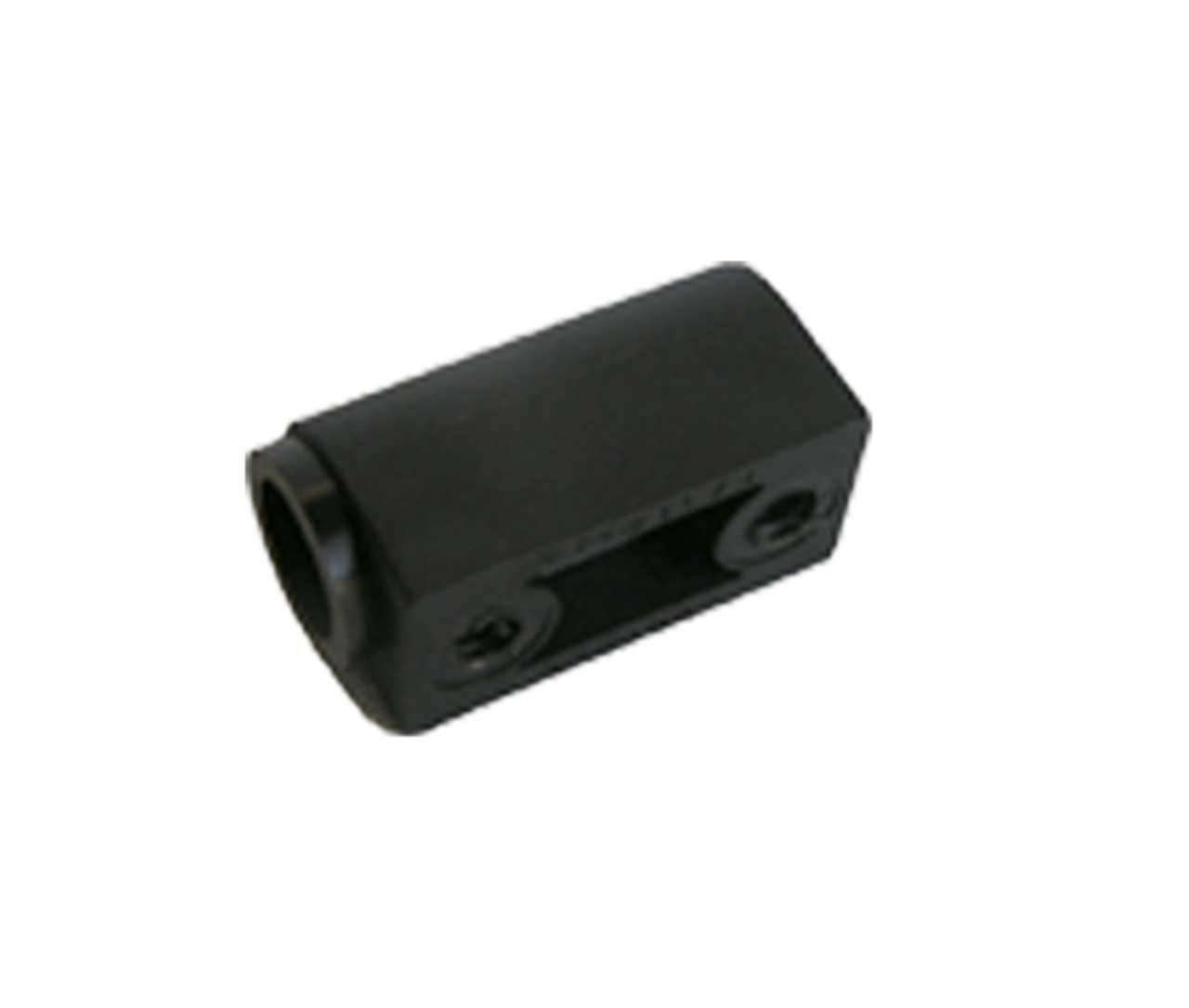 D00402 - Black Plastic Door Hinge, Female half