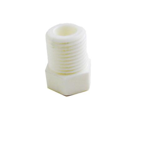 "P18011 - 1801-1 White Nylon Reducer 1/8""-27 x 10/32"