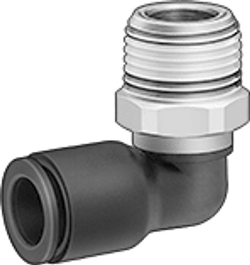 P00535 - 1/8 NPT x 5/32 PI Swivel Elbow