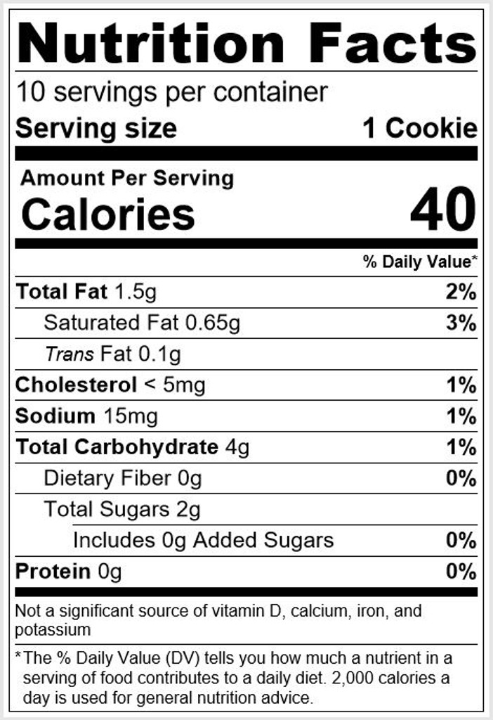 Button Nutrition Facts