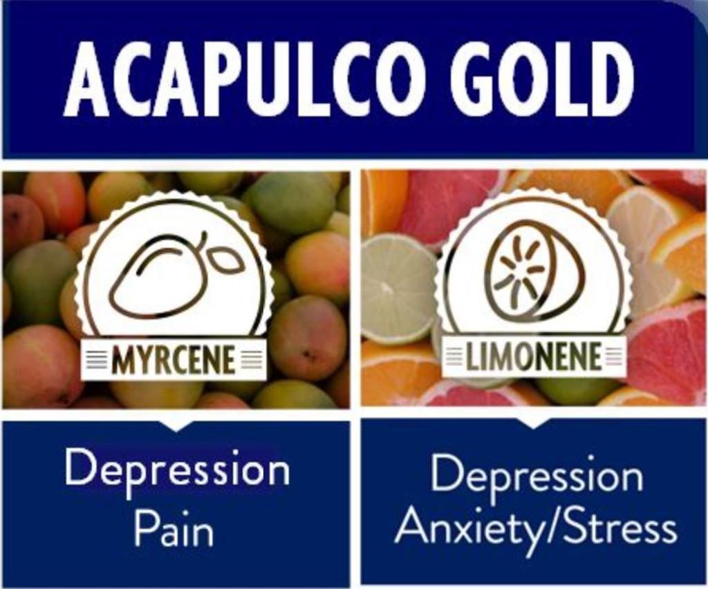 Acapulco Gold (23% THC, .03% CBD)
