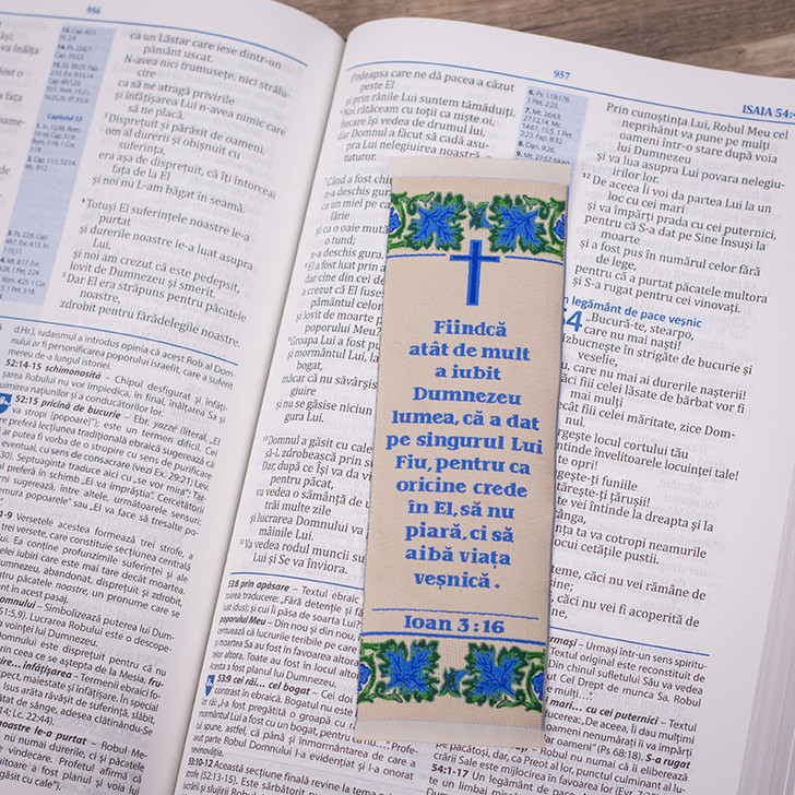 Semn tesut: Fiindca atat de mult a iubit Dumnezeu lumea