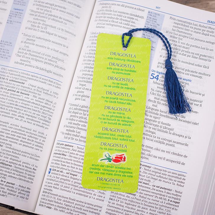 Semn snur: Dragostea 1 Cor. 13 (verde)