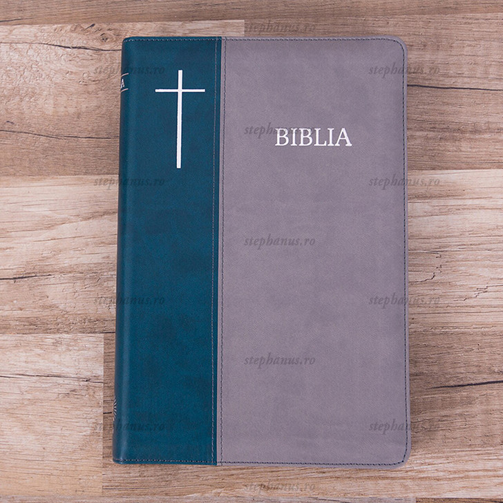Biblia Cornilescu cu fermoar (Verde-Gri)