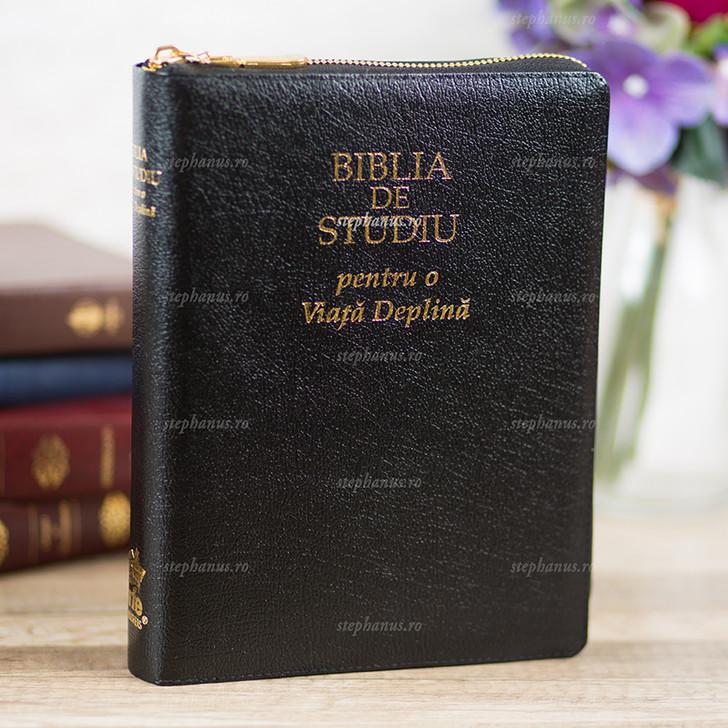 Biblia de Studiu pentru o viata deplina! (fermoar+index+aurita)