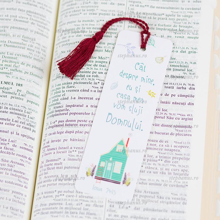 Semn snur: Cat despre mine, eu si casa mea vom sluji Domnului