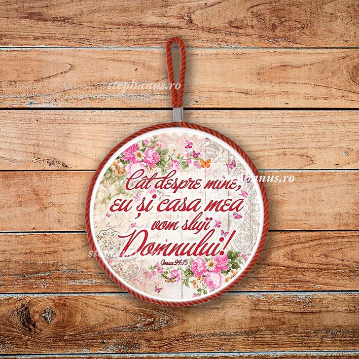 Tablou: Cat despre mine, eu si casa mea vom sluji Domnului!
