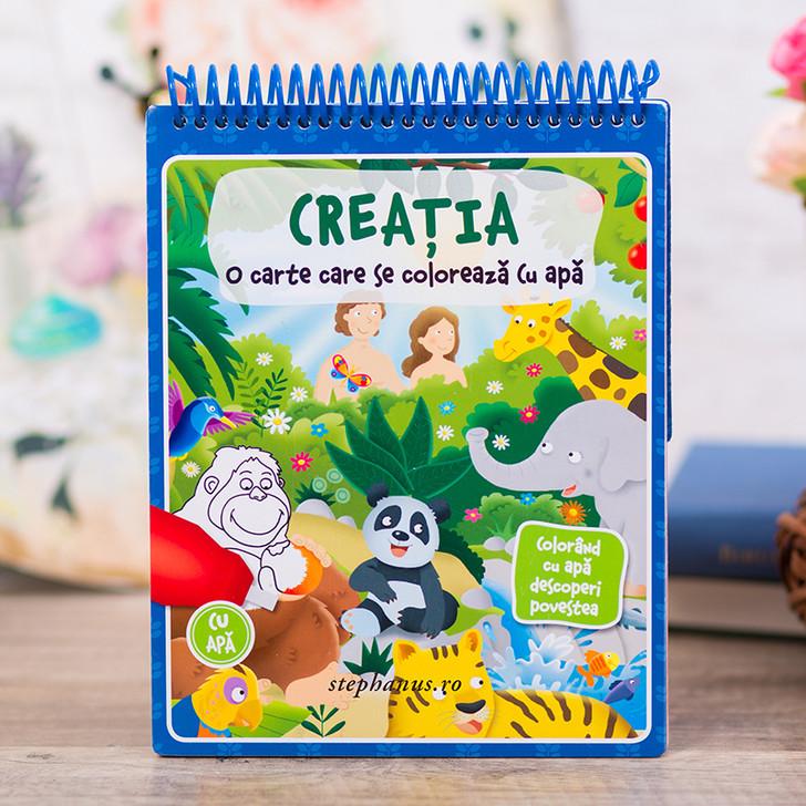 Creatia - carte de colorat cu apa
