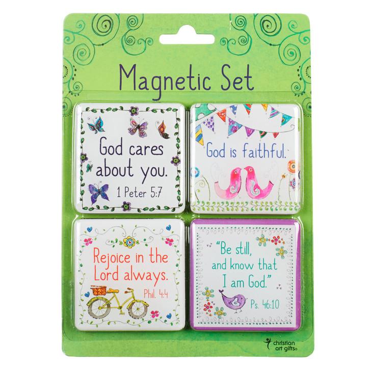 Set 4 magneti: Binecuvantari de zi cu zi