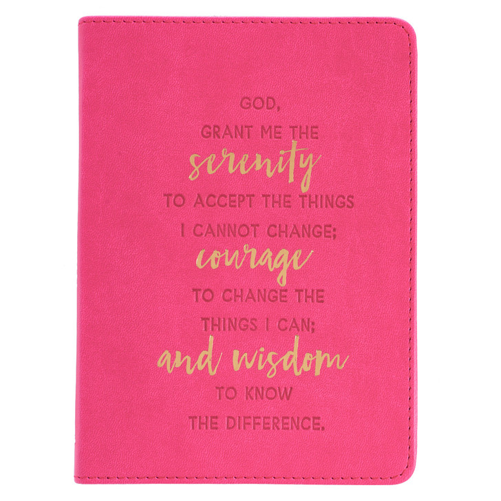 "Jurnal lux roz ""Serenity, courage and wisdom"""