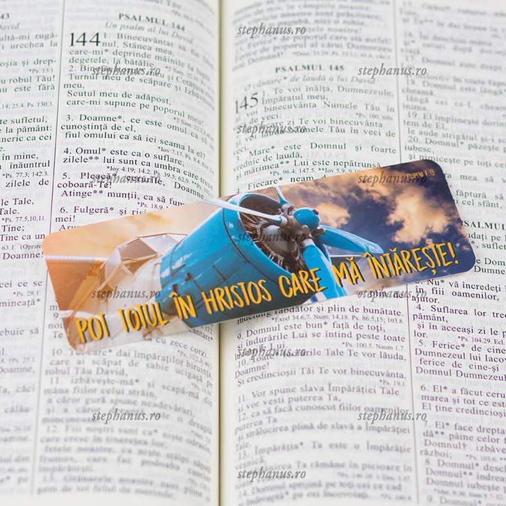Semn carte: Pot totul in Hristos, care ma intareste! Filipeni 4.13