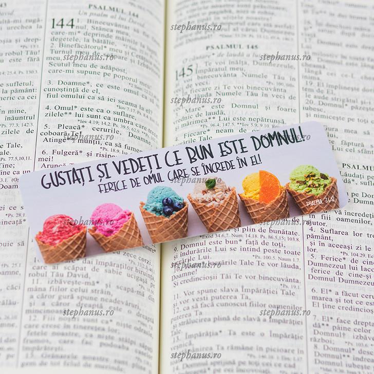 Semn carte: Gustati si vedeti ce bun este Domnul! Ps. 34/8