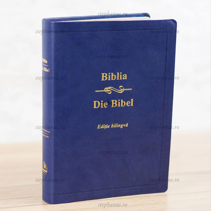 Biblia Sbr Romana-Germana - Editie Bilingva Albastru - Pu
