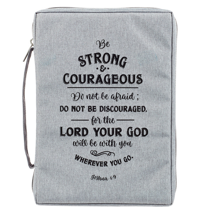 Husa Biblie mare - Be strong & courageous