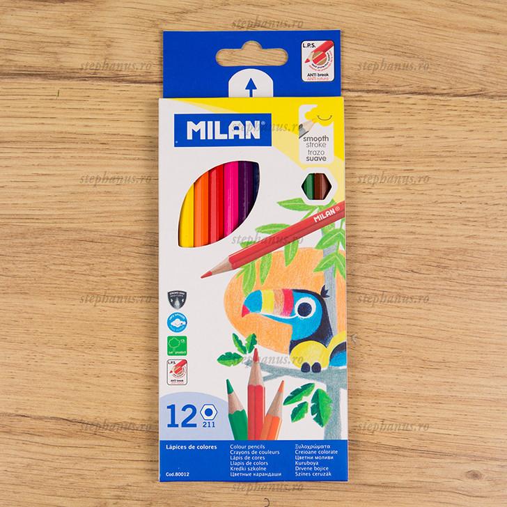 Creion 12 Culori Milan Hexagon