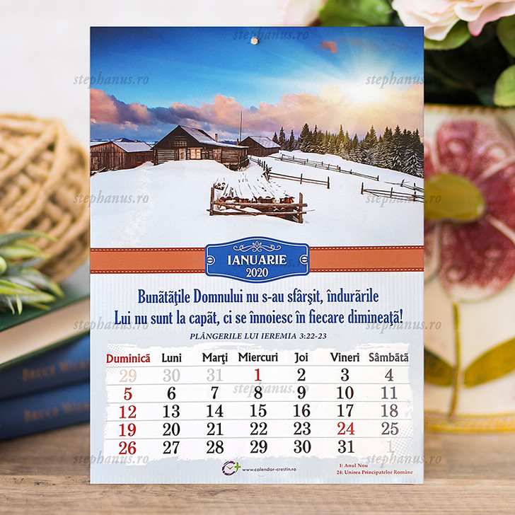 Calendar A4  PEISAJE - 2020