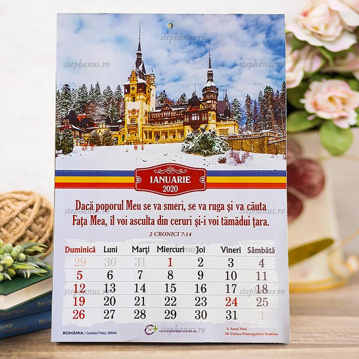 Calendar A4  zone turistice ROMANIA - 2020