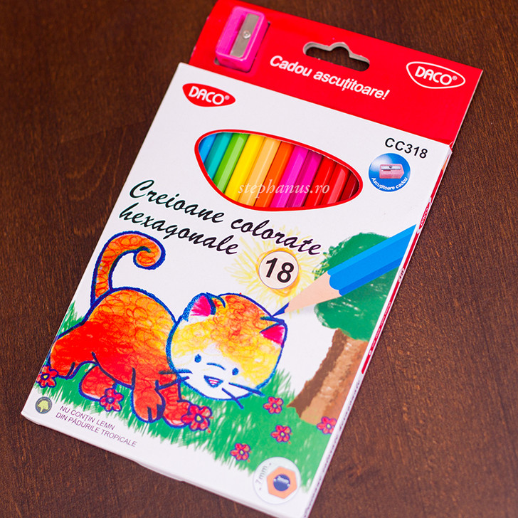 Creion 18 culori DACO