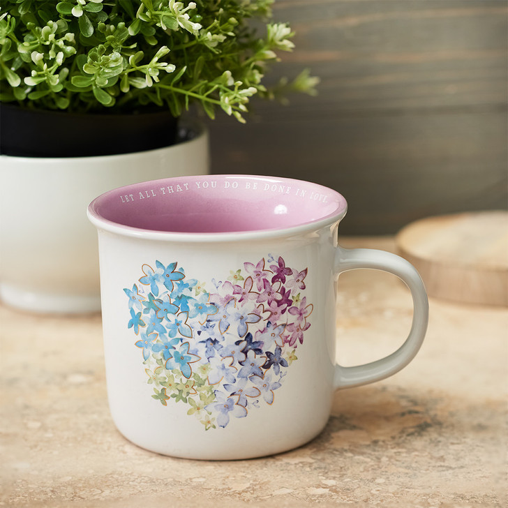 Cana violet - Floral Heart