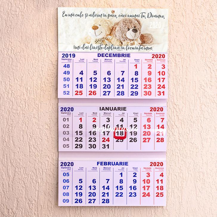 Calendar triptic 2020: Eu ma culc si adorm in pace.