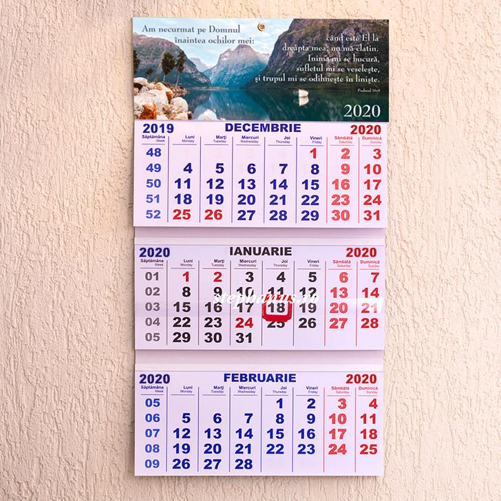 Calendar triptic 2020: Am necurmat pe Domnul inaintea ochilor mei!