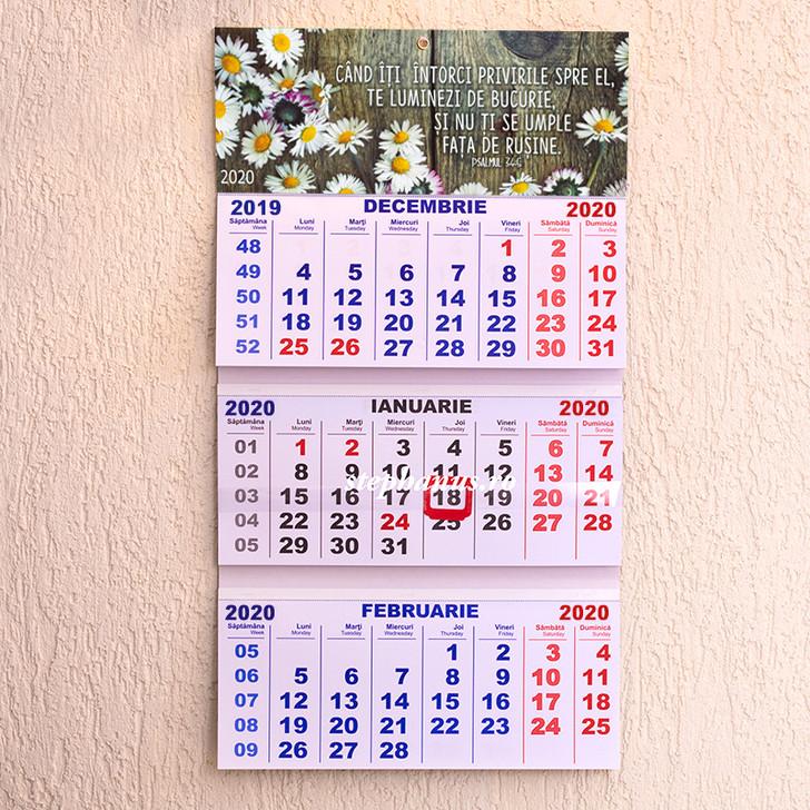 Calendar triptic 2020:  Cand iti intorci privirile spre El te luminezi de bucurie