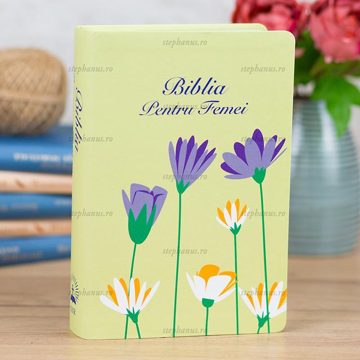 Biblia pentru femei Floral verde MICA