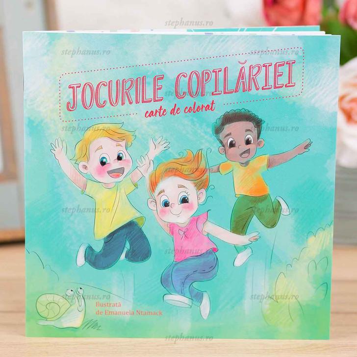 Jocurile copilariei - carte de colorat