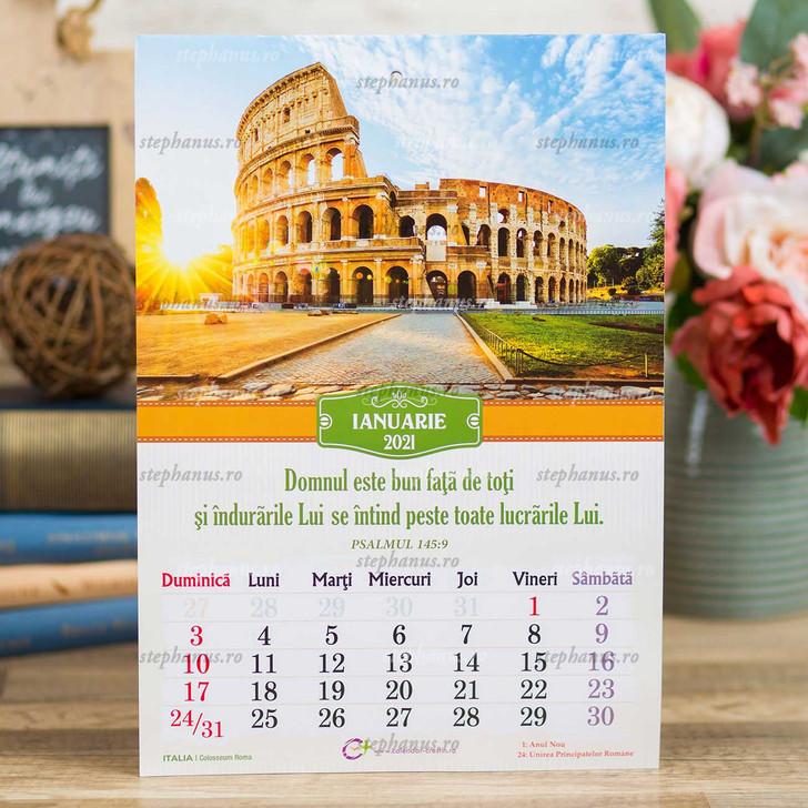 Calendar A4 - Obiective turistice - 2021