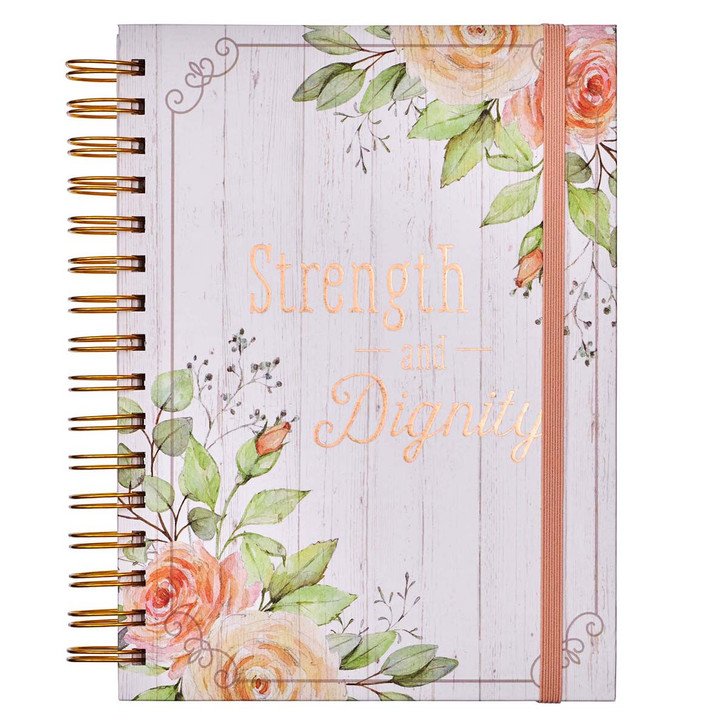 Jurnal - Strength and Dignity Large / inchidere cu elastic / engleza