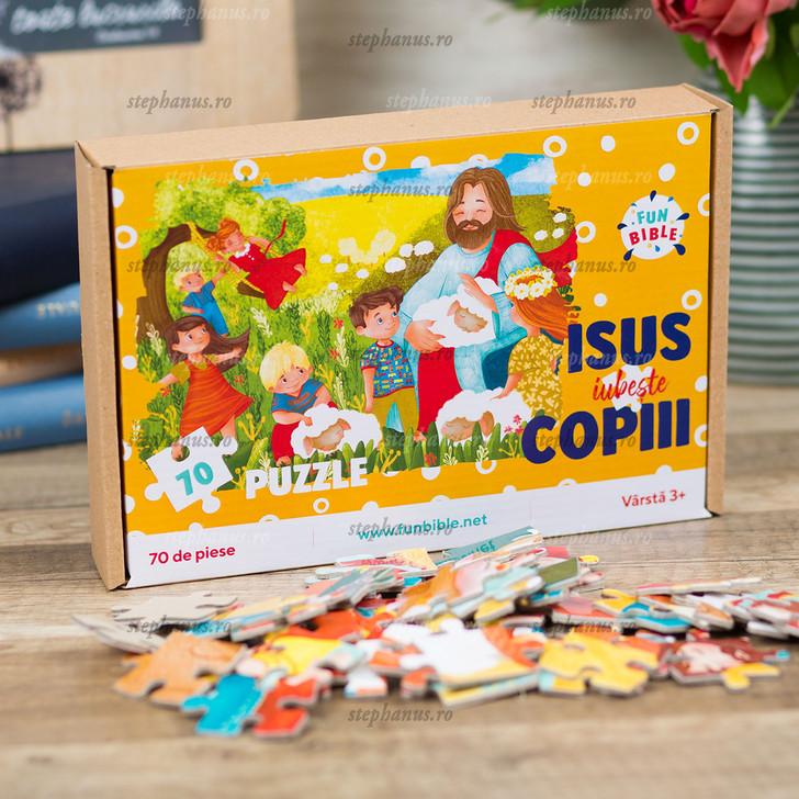 Joc PUZZLE Biblic - Isus iubeste copiii