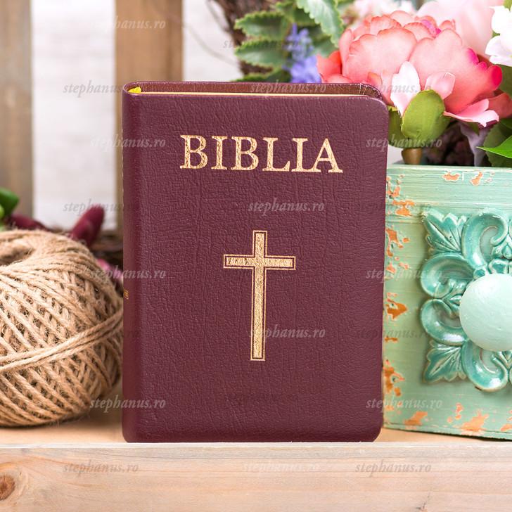 Biblia Evs Medie 063 Ti Cu Cruce Grena