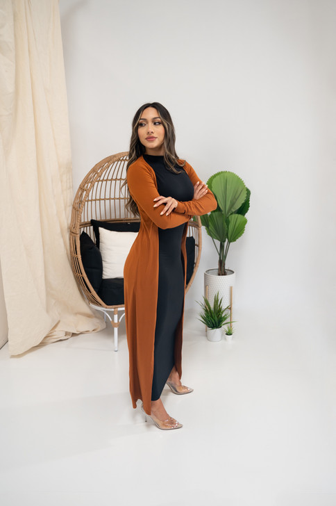 LONG BASIX CARDIGAN - COPPER