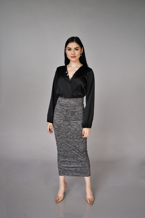 LUXE MAXI SKIRT - MARBLE