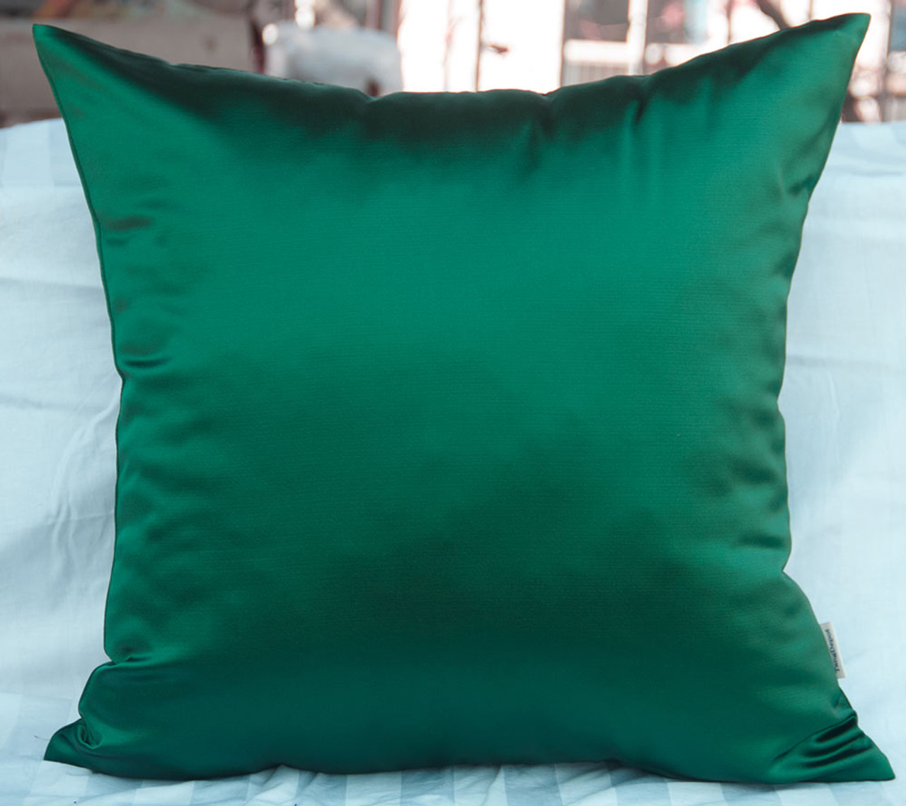 TangDepot Solid Heavy Satin Decorative Throw Pillow Cover