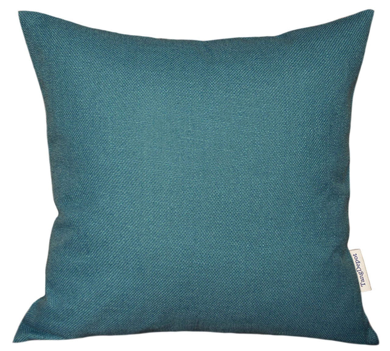 TangDepot Blend Linen Handmade Solid Decorative Throw Pillow Covers /Pillow Shams, Thick and Soft