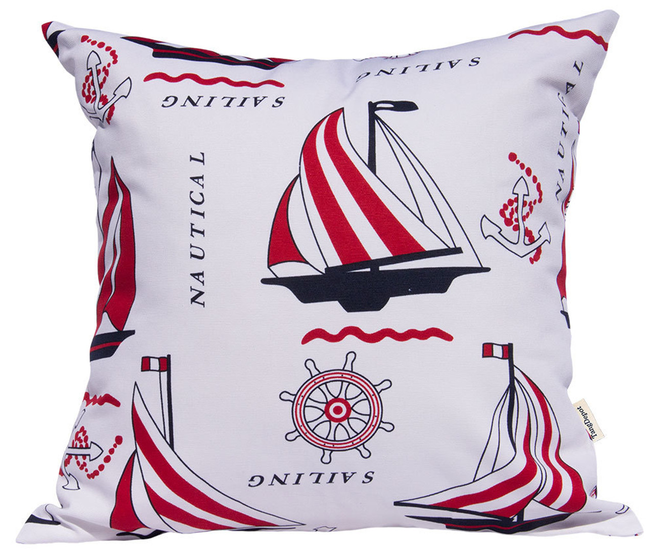 TangDepot Decorative Handmade Cotton Throw Pillow Covers /Pillow Shams, Sailing, Bike, Fire_Balloon theme cushion cover