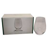 Masters 19 oz. Stemless Etched Wine Glass - Set of Two