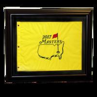 2017 Masters Golf Pin Flag - Framed