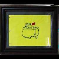 2018 Masters Pin Flag - Framed