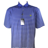 Masters Tech Golf Polo - Royal Blue/White Striped