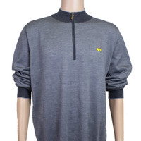 Masters Clubhouse Collection Wool Quarter Zip Pullover - Charcoal
