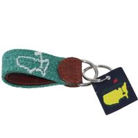Masters Heather Green Smathers & Branson Stitched Key Fob